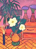 still life with a flower