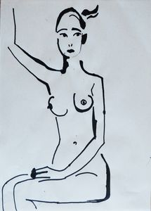 Nude woman sketch 005