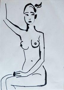Nude woman sketch 005