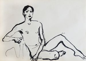 Nude man sketch 001