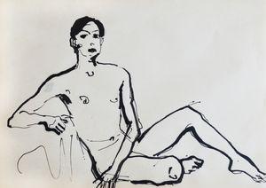 Nude man sketch 001