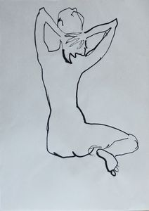 Nude woman sketch 006