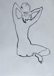 Nude woman sketch 006