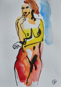 Nude watercolor 0004