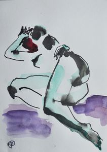 Nude watercolor 0007