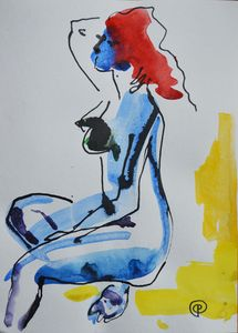 Nude watercolor 0005