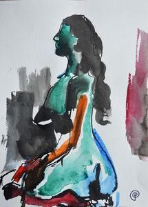 Nude watercolor 0006