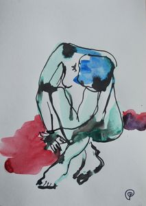Nude watercolor 0008