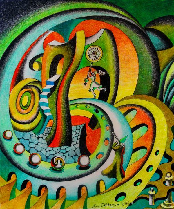 Chasing Time - Nina Tokhtaman Art