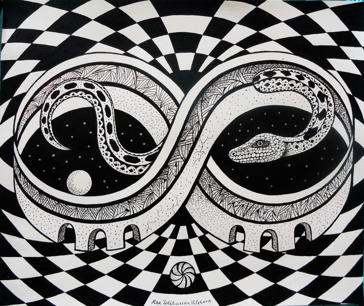 Circle of Time - Nina Tokhtaman Art