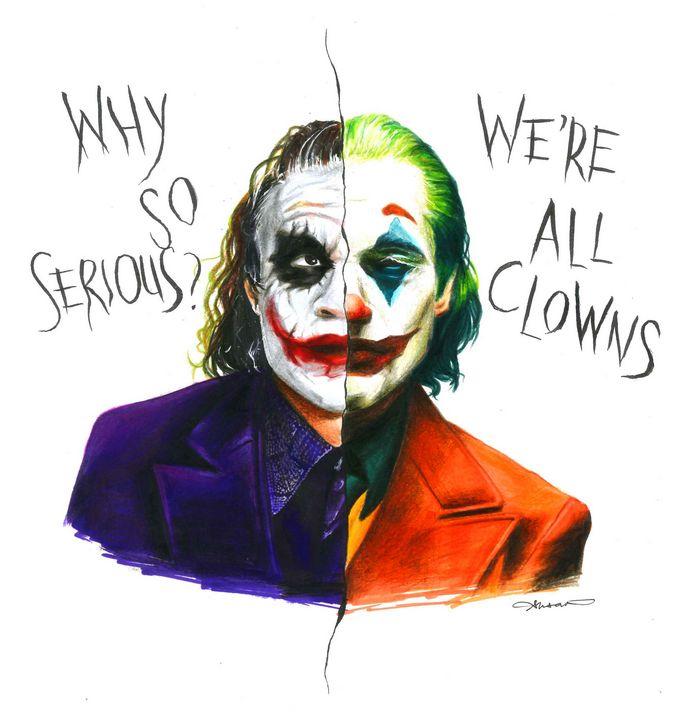 Heath X Joaquin Joker Susan Raymond Drawings
