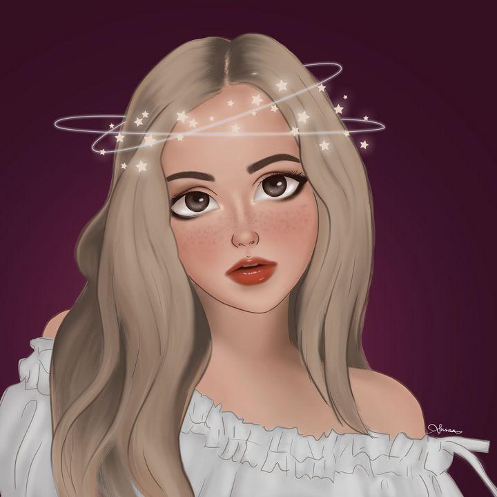 Girl with Twinkling Stars 2 - Susan Raymond
