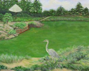 In Stillness the Heron Waits - SueNeufarthHowardArt