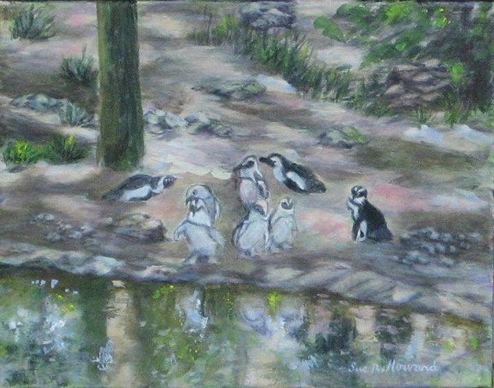 Pondering Penguins - SueNeufarthHowardArt