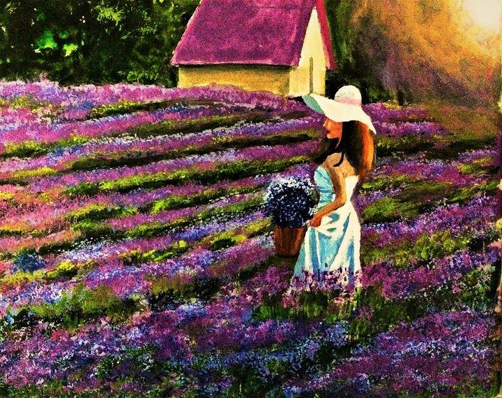 Lavender Field - Praisey Peter Art