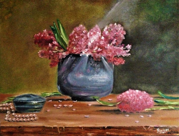 Lilacs and Pearls - Praisey Peter Art