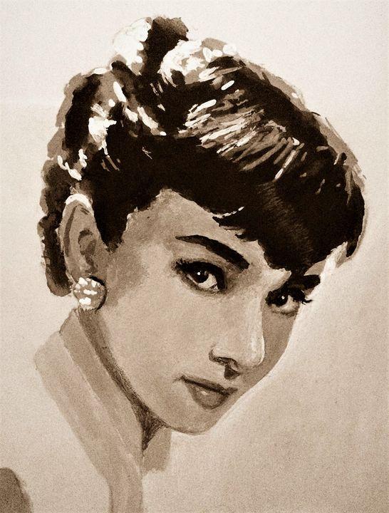 Audrey Hepburn Portrait - Praisey Peter Art
