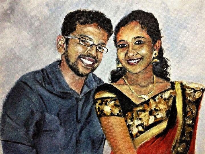 Couple portrait - Praisey Peter Art