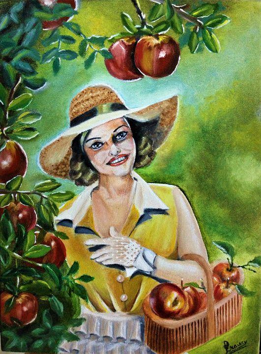 Picking Apples - Praisey Peter Art