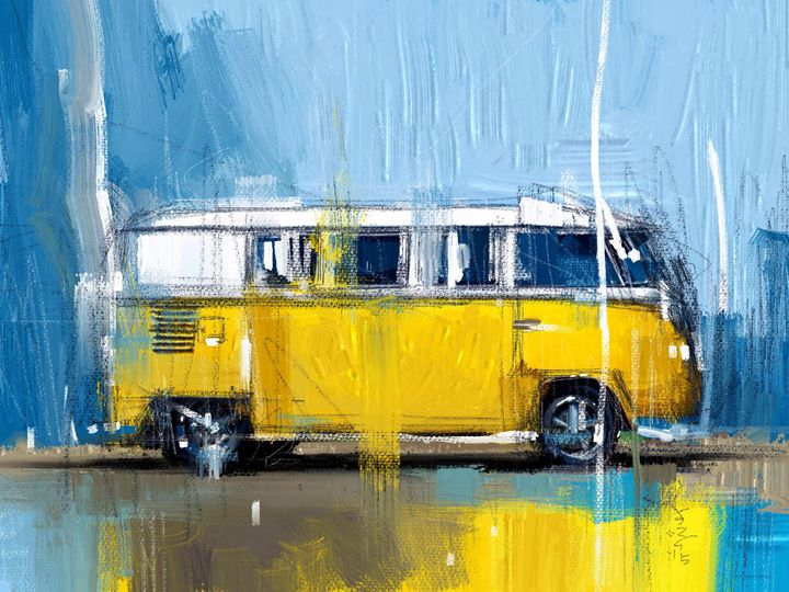 Yellow Camper - MyStudio69