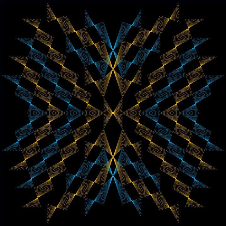 Blue and Orange on Black - Line D'Sine