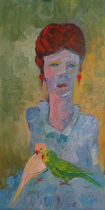 Woman with Parrots - MKStudioShop