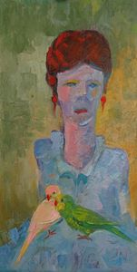 Woman with Parrots