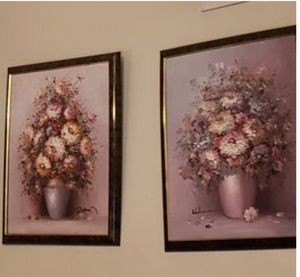 Two hand done signed paintings 3D