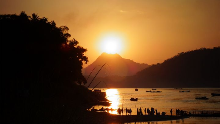 Sunset at Mekong River - Photogallery