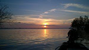 Sunset on Mekong Delta