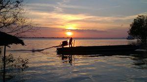 Sunset at Mekong Delta