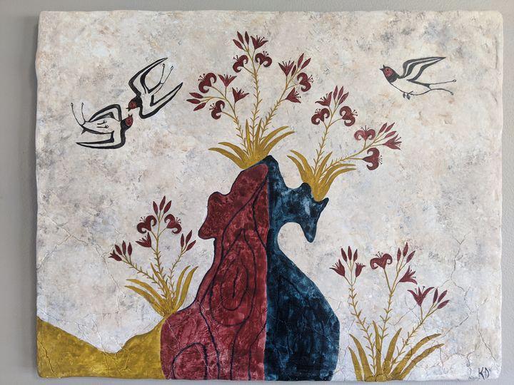 Swallows and Lilies - Kristin Dunham