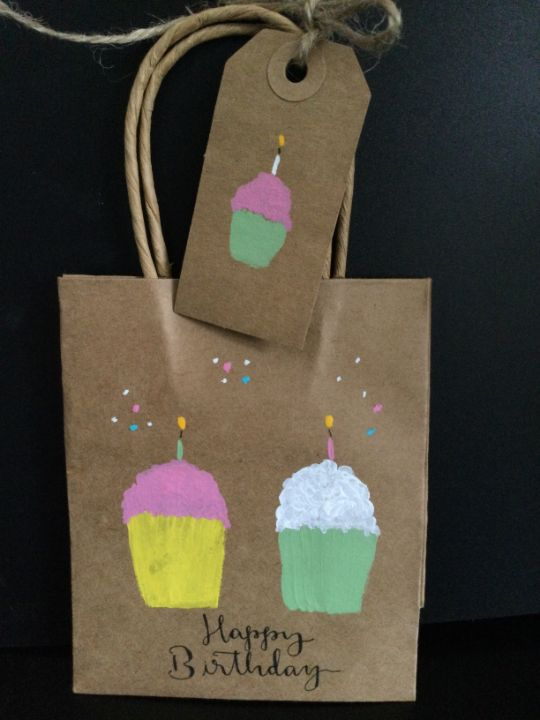 Birthday bags and tags - Brushstrokes of Joy.            Wholesale pricing.