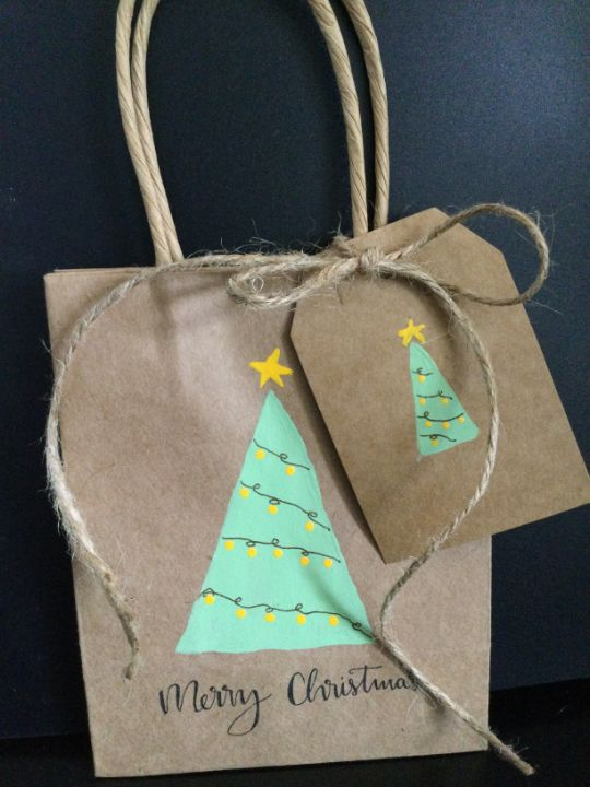 Christmas bags and tags - Brushstrokes of Joy.            Wholesale pricing.