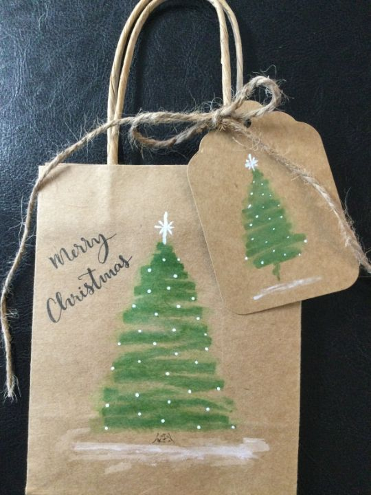 Christmas cards bags and tags - Brushstrokes of Joy.            Wholesale pricing.