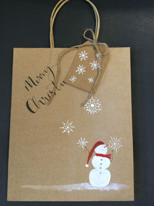 Large 8 x 10 Christmas bags - Brushstrokes of Joy.            Wholesale pricing.