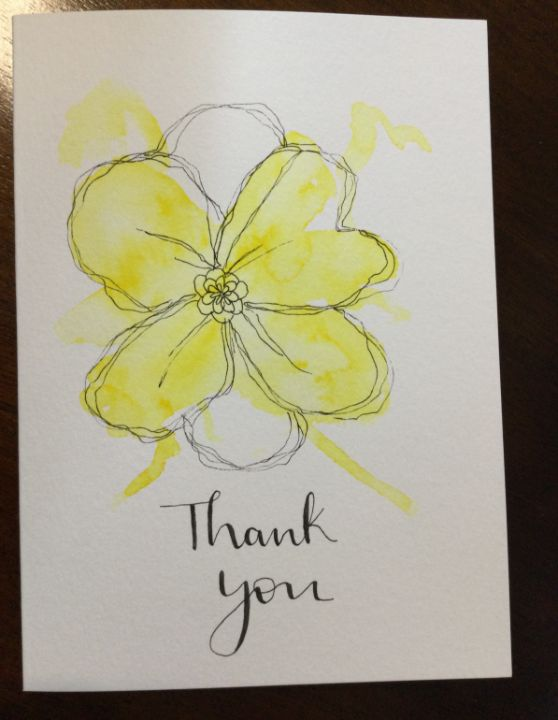 Thank you card - Brushstrokes of Joy.            Wholesale pricing.