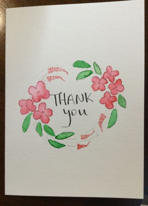 Thank you cards - Brushstrokes of Joy.            Wholesale pricing.