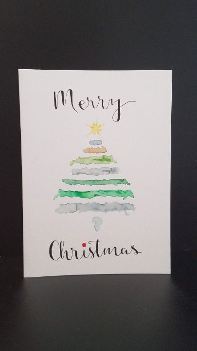 Miss card. With Christmas tree - Brushstrokes of Joy.            Wholesale pricing.