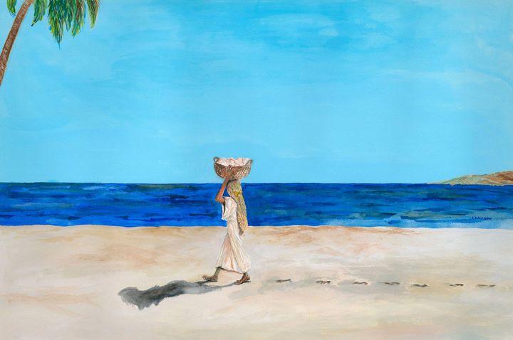 Errand Girl - RW Davison Art