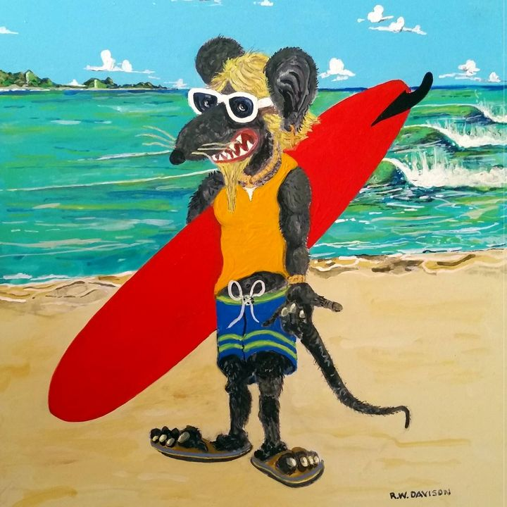 Surf Rat - RW Davison Art