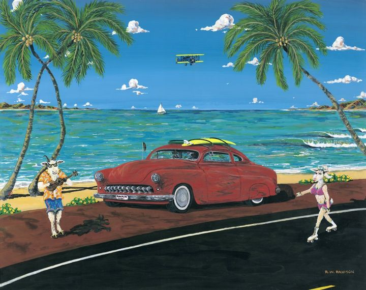 Beach Goaters - RW Davison Art