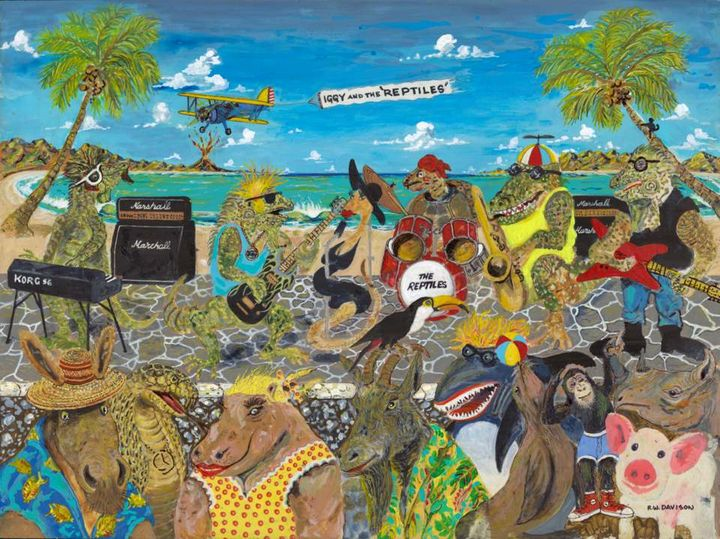 Iggy and the Reptiles - RW Davison Art