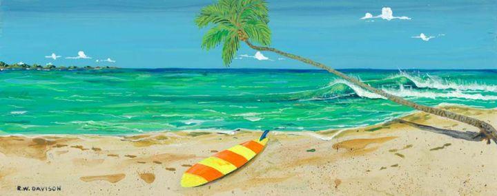 Hidden Beach - RW Davison Art