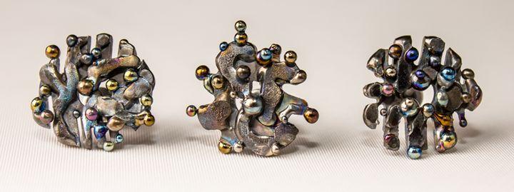Indian Tales. Titanium Earrings.2014 - ArcWeldArt