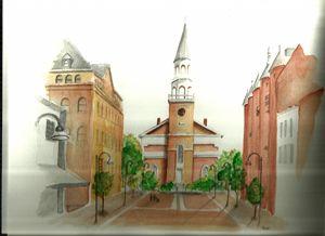 Church Street Burlington VT - Murder City Ink by Scott French