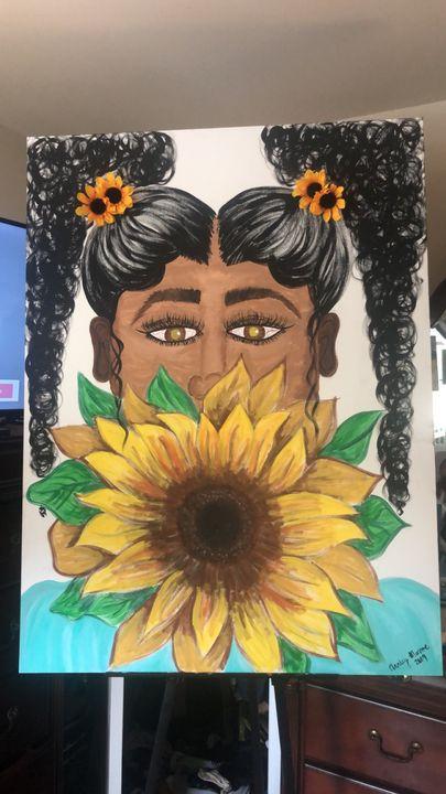 Elise (sunflower goddess) - Marley Monroe
