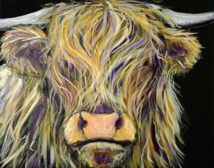 Furry Scottish cow - imaginart