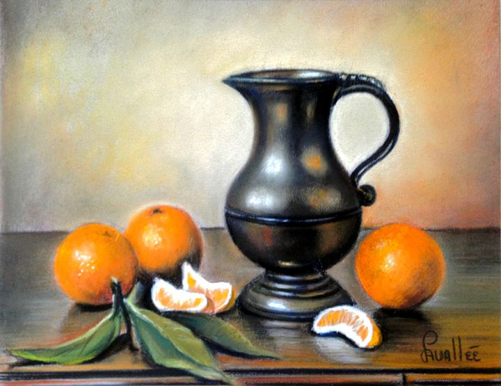 Oranges an tin still life - imaginart