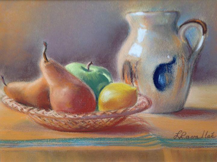 Wicker fruit plate and pot - imaginart